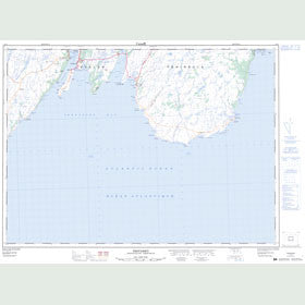 Canadian Topo Map - Trepassey - Map 001K11