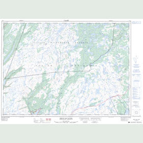 Canadian Topo Map - Biscay Bay River - Map 001K14