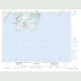 Canadian Topo Map - Trepassey - Map 001K