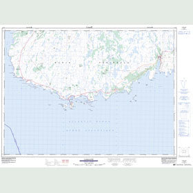 Canadian Topo Map - Lamaline - Map 001L13