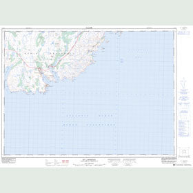 Canadian Topo Map - St. Lawrence - Map 001L14