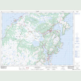 Canadian Topo Map - Marystown - Map 001M03