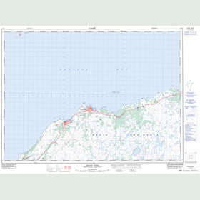 Canadian Topo Map - Grand Bank - Map 001M04