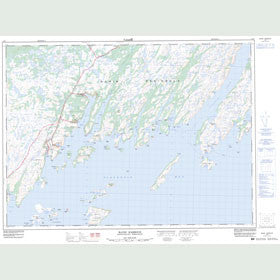 Canadian Topo Map - Baine Harbour - Map 001M07