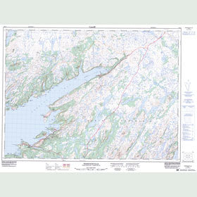 Canadian Topo Map - Terrenceville - Map 001M10