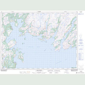 Canadian Topo Map - Belleoram - Map 001M11