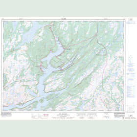 Canadian Topo Map - St. Alban's - Map 001M13