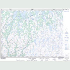 Canadian Topo Map - Hungry Grove Pond - Map 001M14