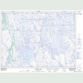 Canadian Topo Map - Gisborne Lake - Map 001M15