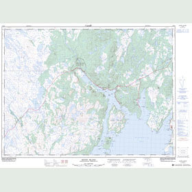 Canadian Topo Map - Sound Island - Map 001M16