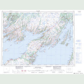 Canadian Topo Map - Belleoram - Map 001M