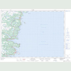 Canadian Topo Map - Ferryland - Map 001N02