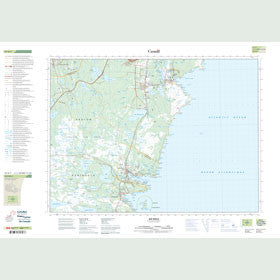 Canadian Topo Map - Bay Bulls - Map 001N07