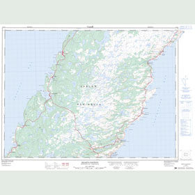 Canadian Topo Map - Heart's Content - Map 001N14