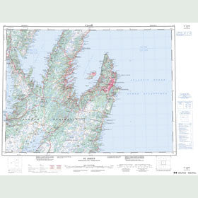 Canadian Topo Map - St. John's - Map 001N