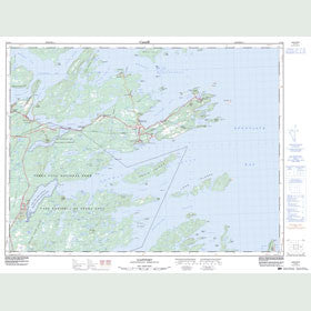 Canadian Topo Map - Eastport - Map 002C12