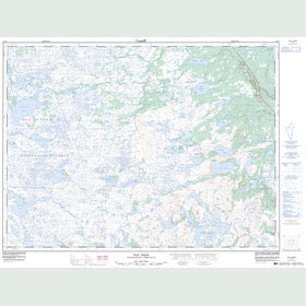 Canadian Topo Map - Tug Pond - Map 002D01