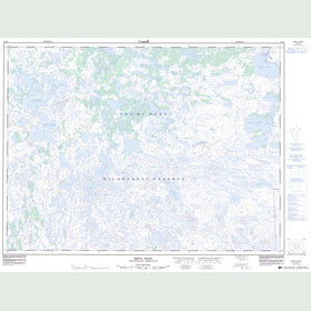 Canadian Topo Map - Meta Pond - Map 002D02