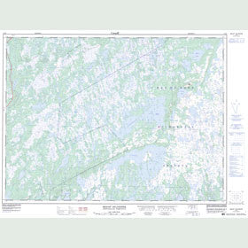 Canadian Topo Map - Mount Sylvester - Map 002D03