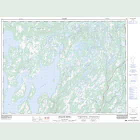 Canadian Topo Map - Twillick Brook - Map 002D04