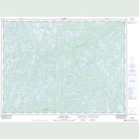 Canadian Topo Map - Burnt Hill - Map 002D05