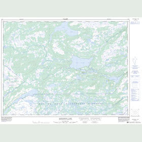 Canadian Topo Map - Kepenkeck Lake - Map 002D07