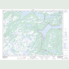 Canadian Topo Map - Port Blandford - Map 002D08