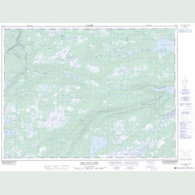 Canadian Topo Map - Dead Wolf Pond - Map 002D10
