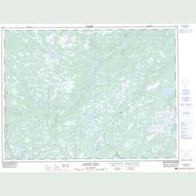 Canadian Topo Map - Eastern Pond - Map 002D11