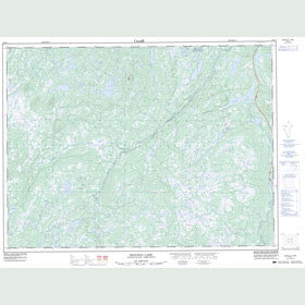 Canadian Topo Map - Miguels Lake - Map 002D12