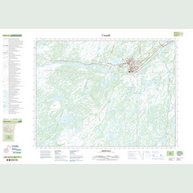 Canadian Topo Map - Grand Falls - Map 002D13