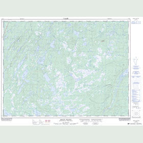 Canadian Topo Map - Mount Peyton - Map 002D14