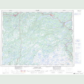Canadian Topo Map - Gander Lake - Map 002D