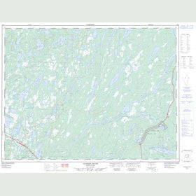 Canadian Topo Map - Gander River - Map 002E02