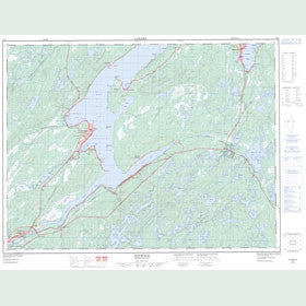 Canadian Topo Map - Botwood - Map 002E03