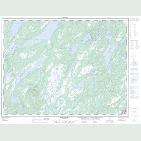 Canadian Topo Map - Hodges Hill - Map 002E04