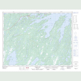 Canadian Topo Map - Robert's Arm - Map 002E05
