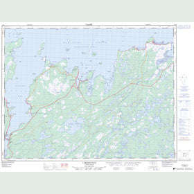 Canadian Topo Map - Carmanville - Map 002E08