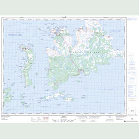Canadian Topo Map - Fogo - Map 002E09
