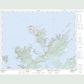 Canadian Topo Map - Twillingate - Map 002E10