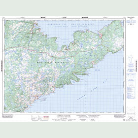 Canadian Topo Map - Nippers Harbour - Map 002E13