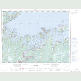 Canadian Topo Map - Botwood - Map 002E