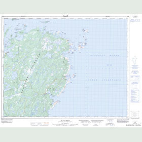 Canadian Topo Map - St. Julien's - Map 002M04