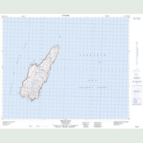 Canadian Topo Map - Belle Isle - Map 002M14