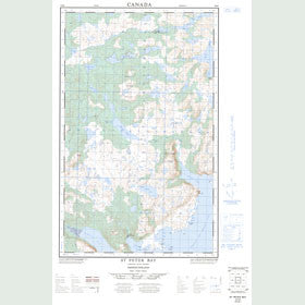 Canadian Topo Map - St. Peter Bay - Map 003D04W