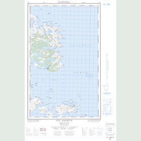 Canadian Topo Map - Fox Harbour - Map 003D05E