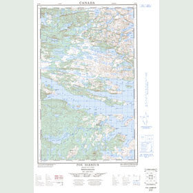 Canadian Topo Map - Fox Harbour - Map 003D05W