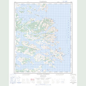 Canadian Topo Map - Francis Harbour - Map 003D12
