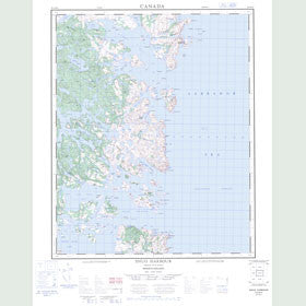 Canadian Topo Map - Snug Harbour - Map 003D13
