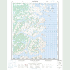 Canadian Topo Map - Comfort Bight - Map 003E04